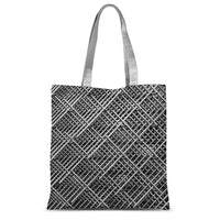 Abstract Gray Geometrical Sublimation Tote Bag 15X16.5 Accessories