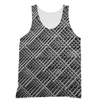 Abstract Gray Geometrical Sublimation Vest Xs Apparel