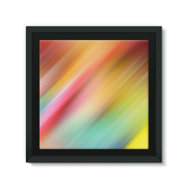 Abstract Of Multiple Colors Framed Eco-Canvas 10X10 Wall Decor