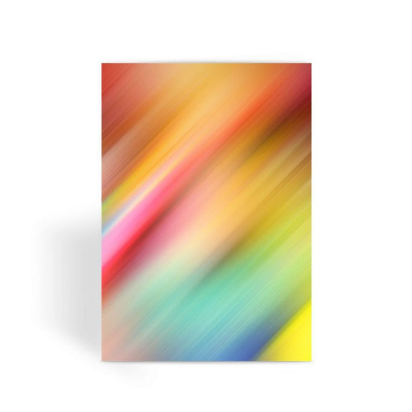 Abstract Of Multiple Colors Greeting Card 1 Prints