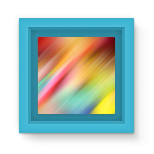 Abstract Of Multiple Colors Magnet Frame Light Blue Homeware