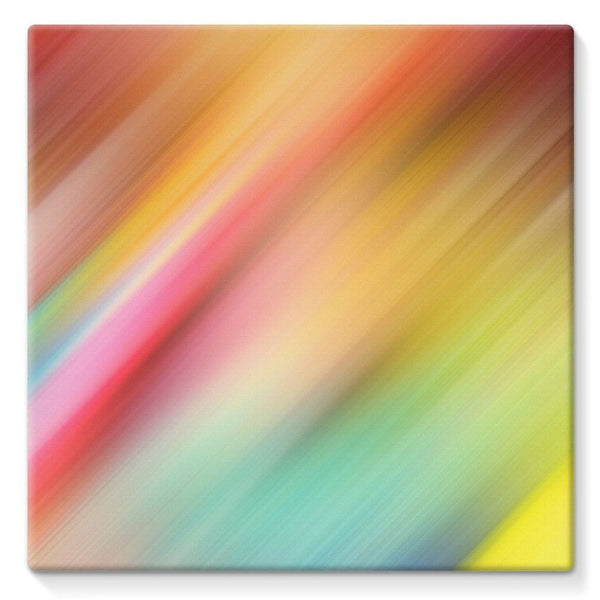 Abstract Of Multiple Colors Stretched Canvas 10X10 Wall Decor