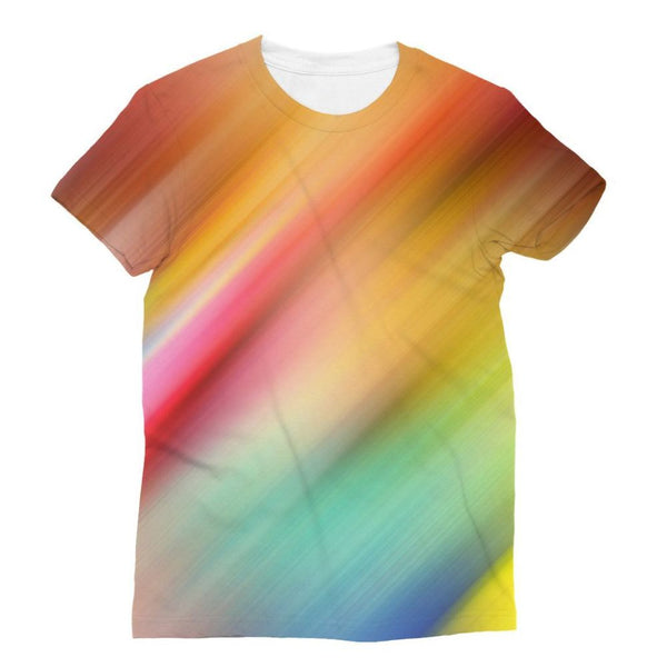 Abstract Of Multiple Colors Sublimation T-Shirt S Apparel