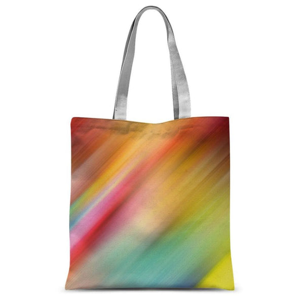 Abstract Of Multiple Colors Sublimation Tote Bag 15X16.5 Accessories