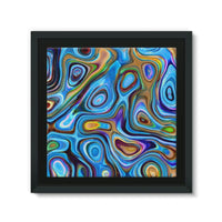 Abstract Oil Pattern Framed Canvas 12X12 Wall Decor