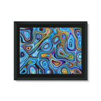 Abstract Oil Pattern Framed Canvas 24X18 Wall Decor