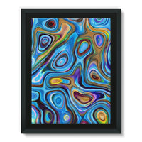 Abstract Oil Pattern Framed Eco-Canvas 18X24 Wall Decor