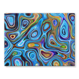 Abstract Oil Pattern Stretched Canvas 16X12 Wall Decor