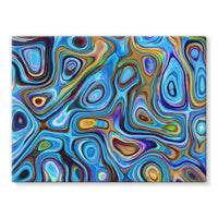 Abstract Oil Pattern Stretched Canvas 24X18 Wall Decor