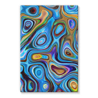 Abstract Oil Pattern Stretched Canvas 24X36 Wall Decor