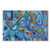 Abstract Oil Pattern Stretched Eco-Canvas 36X24 Wall Decor