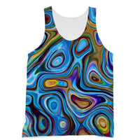 Abstract Oil Pattern Sublimation Vest Xs Apparel