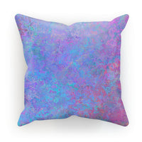 Abstract Pink Design Cushion Faux Suede / 18X18 Homeware