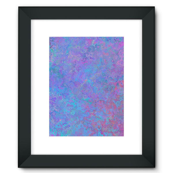 Abstract Pink Design Framed Fine Art Print 12X16 / Black Wall Decor