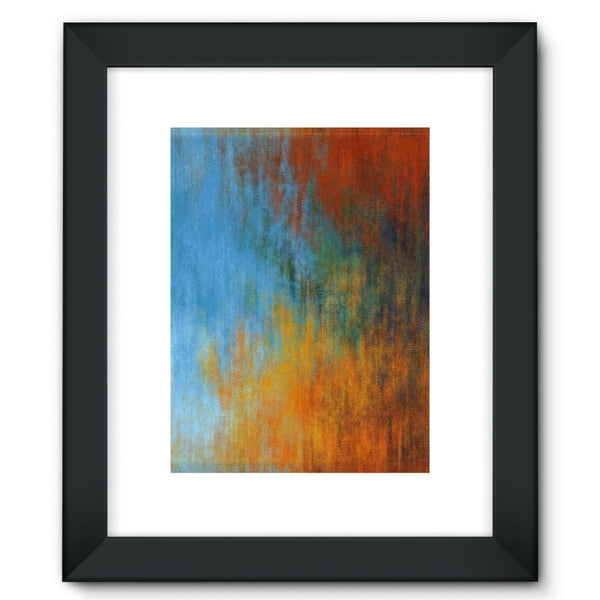 Abstract Tri Color Painting Framed Fine Art Print 12X16 / Black Wall Decor
