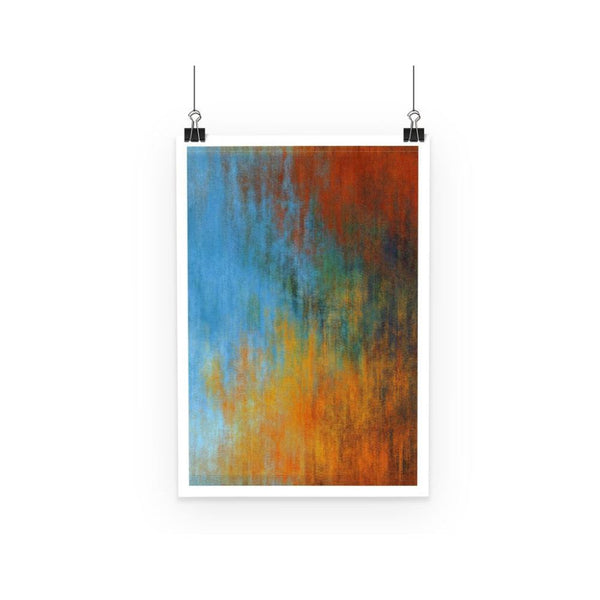 Abstract Tri Color Painting Poster A3 Wall Decor