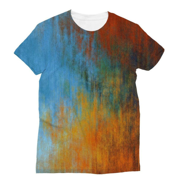 Abstract Tri Color Painting Sublimation T-Shirt S Apparel