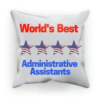 Administrative Assistants Cushion Faux Suede / 18X18 Homeware