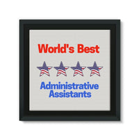 Administrative Assistants Framed Eco-Canvas 10X10 Wall Decor
