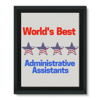 Administrative Assistants Framed Eco-Canvas 11X14 Wall Decor