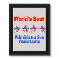 Administrative Assistants Framed Eco-Canvas 18X24 Wall Decor