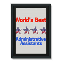 Administrative Assistants Framed Eco-Canvas 24X36 Wall Decor