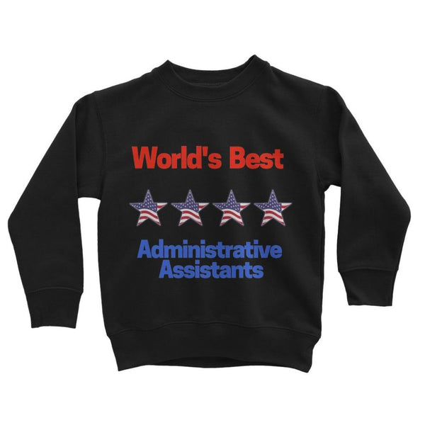 Administrative Assistants Kids Sweatshirt 3-4 Years / Jet Black Apparel