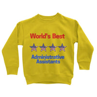 Administrative Assistants Kids Sweatshirt 3-4 Years / Sun Yellow Apparel