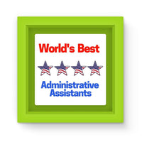 Administrative Assistants Magnet Frame Green Homeware