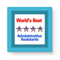 Administrative Assistants Magnet Frame Light Blue Homeware