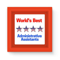 Administrative Assistants Magnet Frame Red Homeware