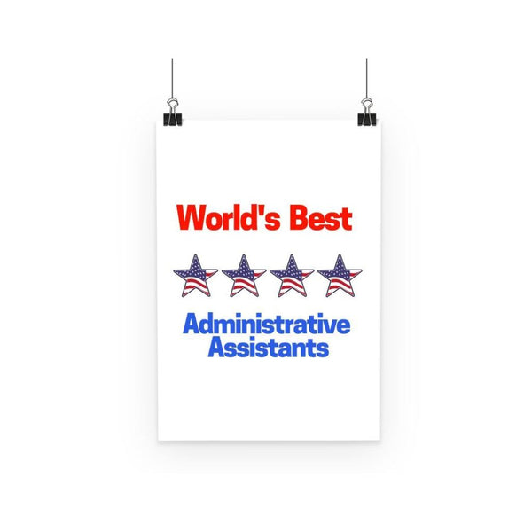 Administrative Assistants Poster A3 Wall Decor