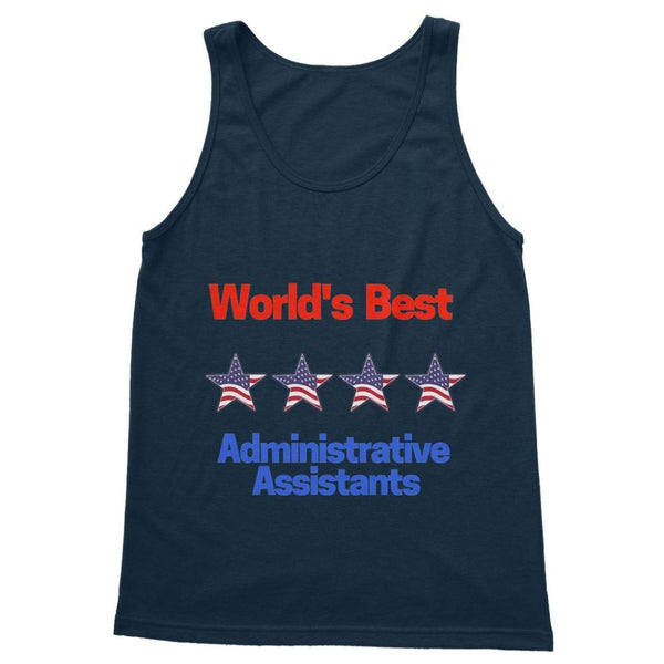 Administrative Assistants Softstyle Tank Top S / Navy Apparel
