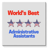 Administrative Assistants Stretched Eco-Canvas 10X10 Wall Decor