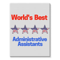 Administrative Assistants Stretched Eco-Canvas 18X24 Wall Decor