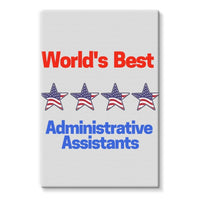 Administrative Assistants Stretched Eco-Canvas 24X36 Wall Decor