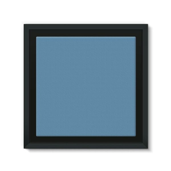 Air Force Blue Color Framed Eco-Canvas 10X10 Wall Decor