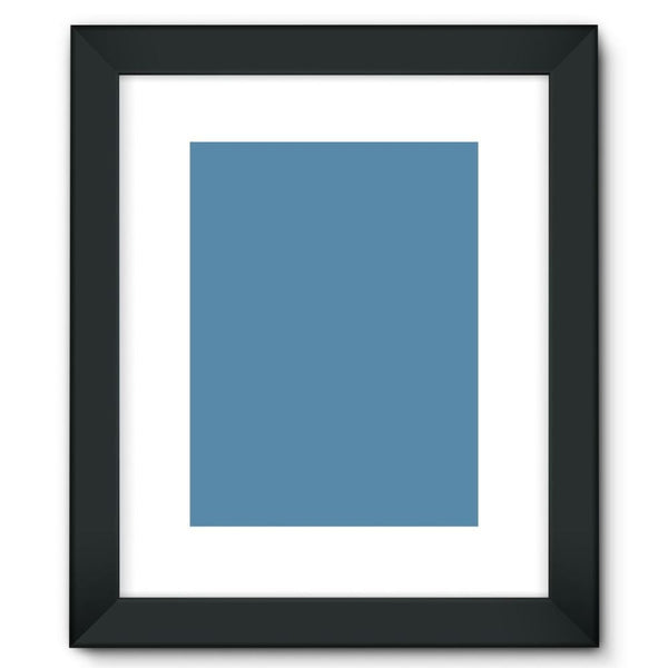 Air Force Blue Color Framed Fine Art Print 12X16 / Black Wall Decor