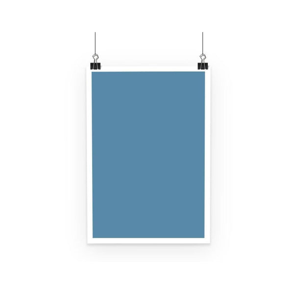Air Force Blue Color Poster A3 Wall Decor