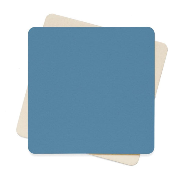 Air Force Blue Color Square Paper Coaster Set - 6Pcs 4 X In Home Decor