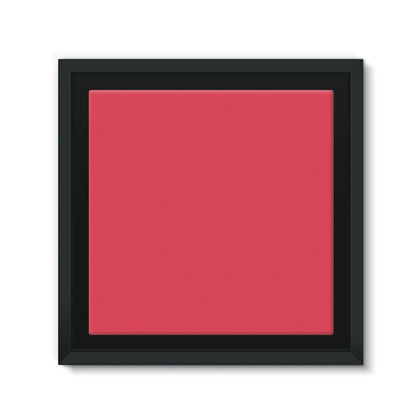 Amaranth Red Color Framed Eco-Canvas 10X10 Wall Decor