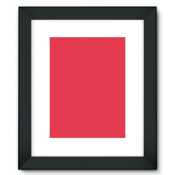 Amaranth Red Color Framed Fine Art Print 12X16 / Black Wall Decor