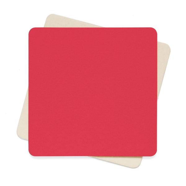 Amaranth Red Color Square Paper Coaster Set - 6Pcs 4 X In Home Decor