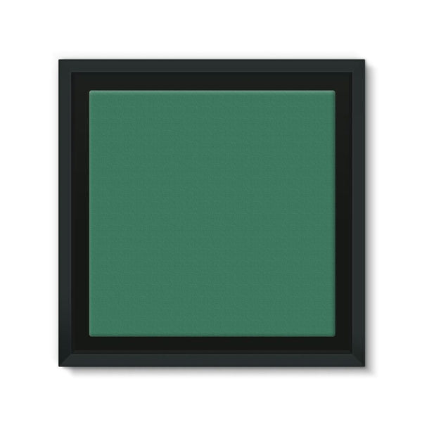 Amazon Green Color Framed Canvas 12X12 Wall Decor