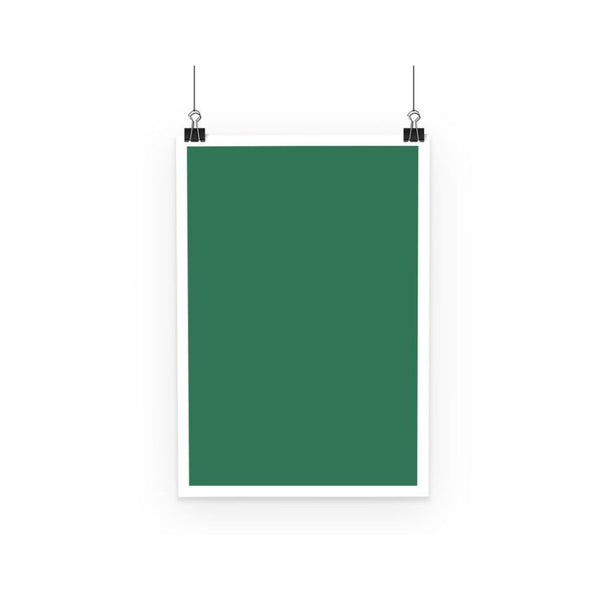 Amazon Green Color Poster A3 Wall Decor