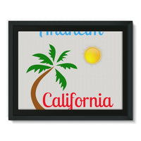 Anaheim California Palm Sun Framed Canvas 16X12 Wall Decor