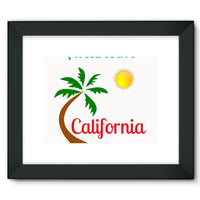 Anaheim California Palm Sun Framed Fine Art Print 16X12 / Black Wall Decor