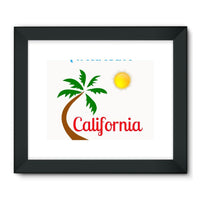 Anaheim California Palm Sun Framed Fine Art Print 32X24 / Black Wall Decor