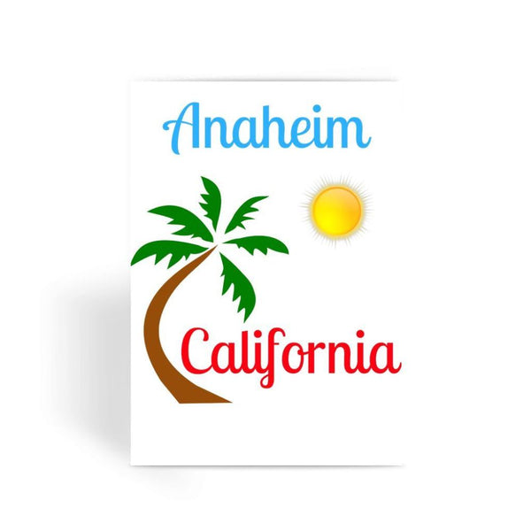 Anaheim California Palm Sun Greeting Card 1 Prints