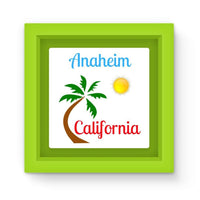 Anaheim California Palm Sun Magnet Frame Green Homeware